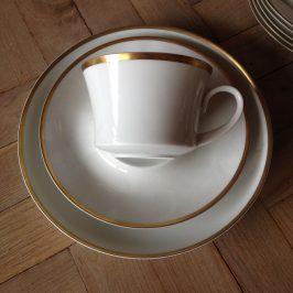 Juego seis tazas y platos BIDASOA