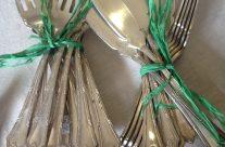 Cubiertos pescado metal